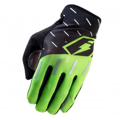 Jitsie Domino Gloves Black/Fluo Green/Silver