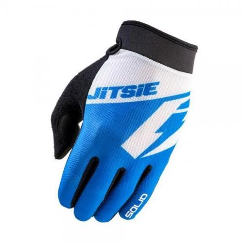 Jitsie G2 Solid Gloves Blue/White Kid