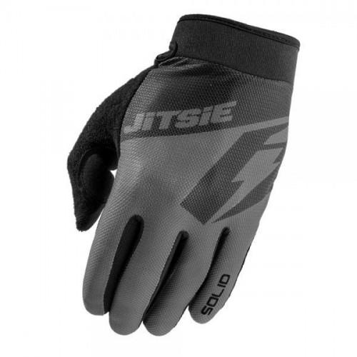 Jitsie G2 Solid Gloves Grey/Black Kid