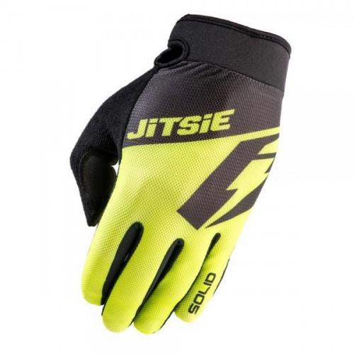 Jitsie G2 Solid Gloves Fluo Yellow/Black Kid