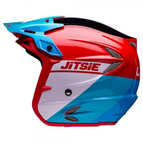 Jitsie Linez Helmet Black/Red/Blue
