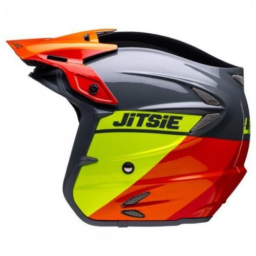 Jitsie Linez Helmet Black/Grey/Fluo Yellow