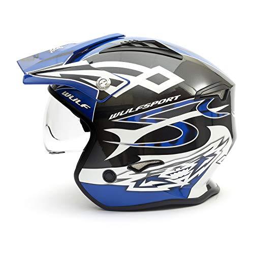 Wulf Vista Trials Helmet Blue