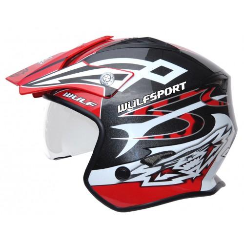 Wulf Vista Trials Helmet Red