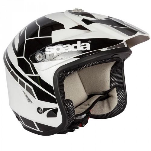 Spada Edge Chaser Black/Wht Trials Helmet