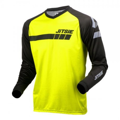 Jitsie L3 Triztan Shirt Black/Fluo Yellow