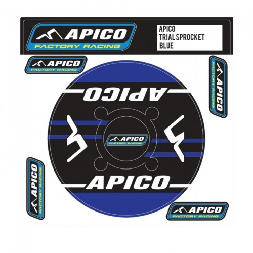 Apico Sprocket Decal Blue