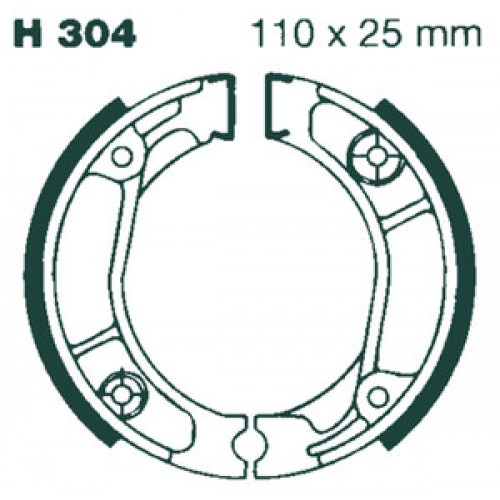EBC H304G Brake Shoes Honda TLR, TLM & RTL