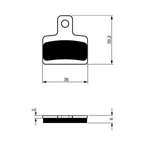 GOLD FREN Brake Pads GF199S3(RC) - Early Scorpa SY250 Rear