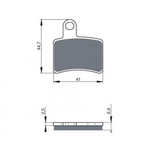 GOLD FREN Brake Pads GF228S3(RC) - Beta Rev3 250/270 05-08, 125/200 06-08