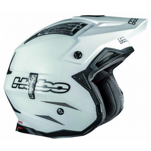 ea5d65864c1 Hebo Zone 4 Mono Fibre Helmet White Trials Helmet