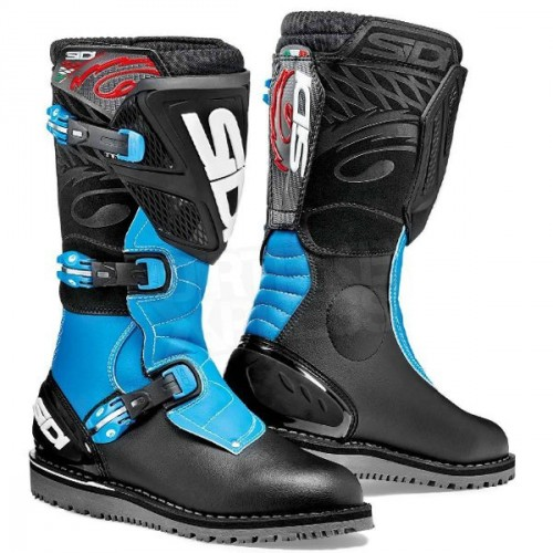 Sidi Zero1 Boots Black/Light Blue