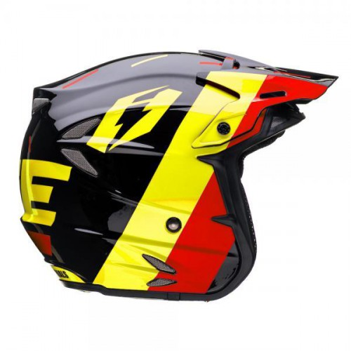 Jitsie HT2 Domino Helmet Black/Yellow/Red