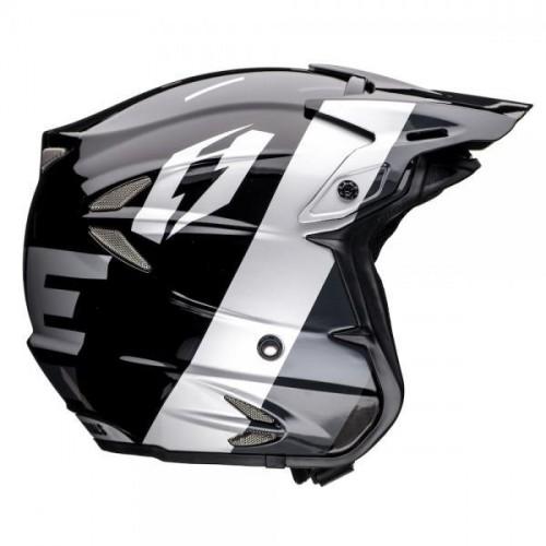 Jitsie HT2 Domino Helmet Black/Silver
