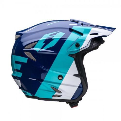 Jitsie HT2 Domino Helmet Navy/Teal/White